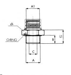 INNESTO A1=Ø14 M12X1,5