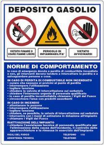 CISTERNE GASOLIO NORME DI COMPORTAMENTO